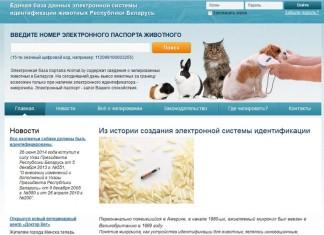 Единая база электронных паспортов животных переехала на сайт animal-id.by